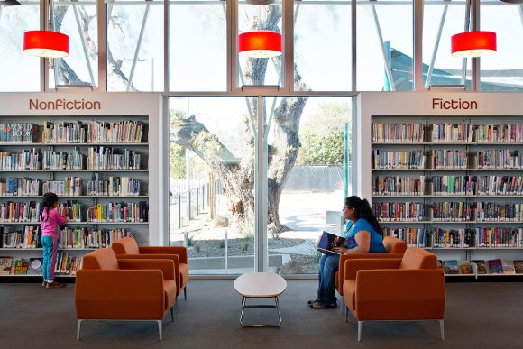 Lincoln Acres Library by Safdie Rabines Architects