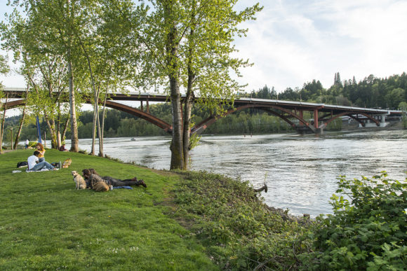 Sellwood Bridge in Portland, OR by Safdie Rabines Architects