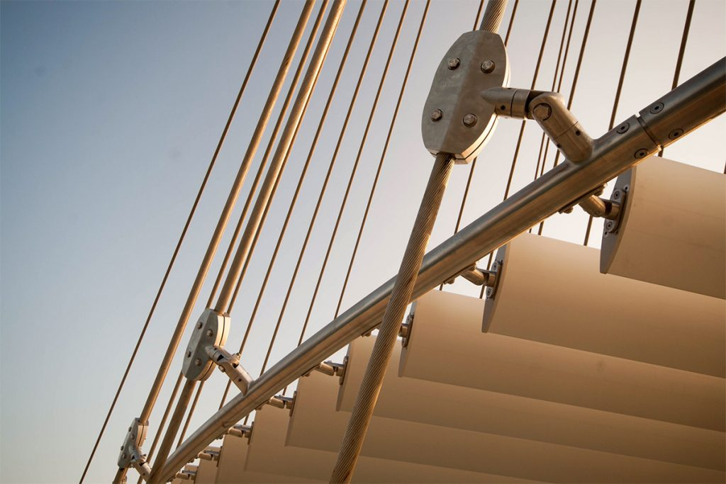 Lusail Pedestrian Bridges by Safdie Rabines Architects