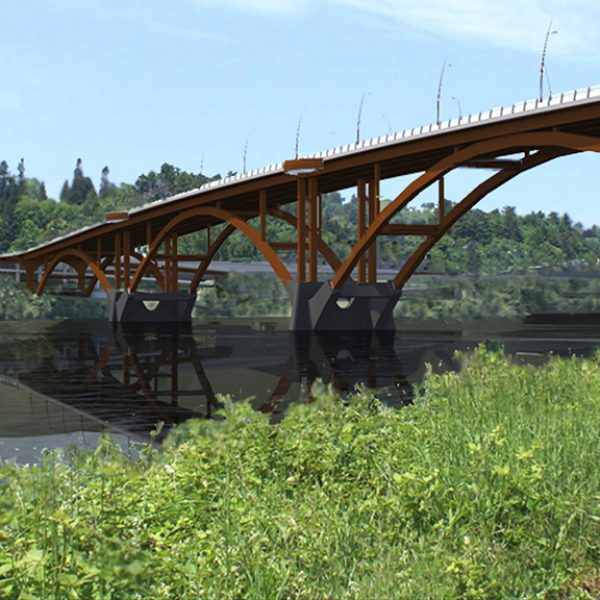 The new Sellwood Bridge in Portland Oregon by Safdie Rabines Architects